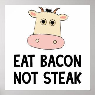Coma el filete del tocino no poster