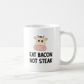 Coma el filete del tocino no taza