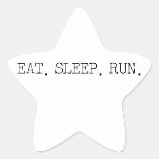 Coma el funcionamiento del sueño pegatina en forma de estrella