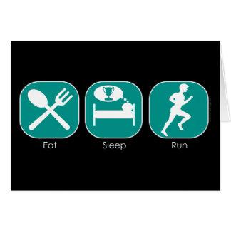 Coma el funcionamiento del sueño tarjeta de felicitación