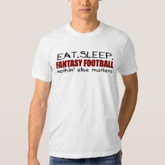Coma el fútbol de la fantasía del sueño poleras