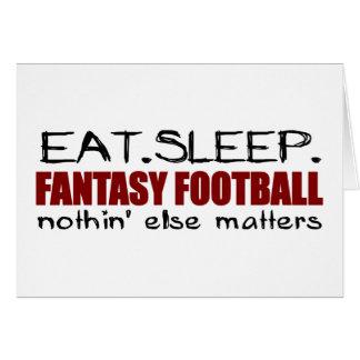 Coma el fútbol de la fantasía del sueño felicitación
