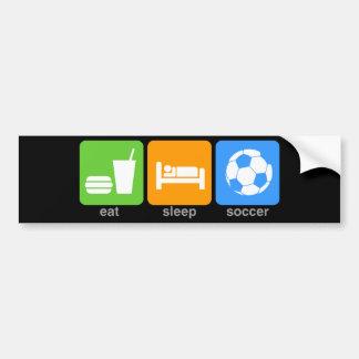Coma el fútbol del sueño pegatina de parachoque