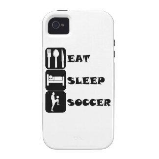 Coma el fútbol del sueño Case-Mate iPhone 4 fundas