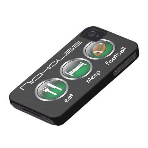Coma el fútbol del sueño:: caso del iPhone 4/4S iPhone 4 Carcasas