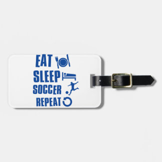 Coma el fútbol del sueño etiquetas de maletas