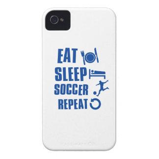 Coma el fútbol del sueño Case-Mate iPhone 4 carcasa