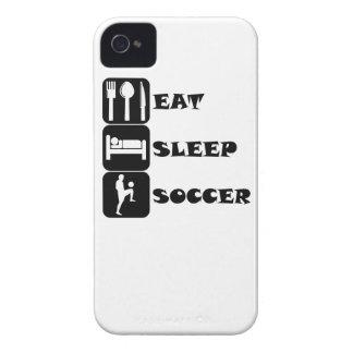 Coma el fútbol del sueño Case-Mate iPhone 4 cobertura