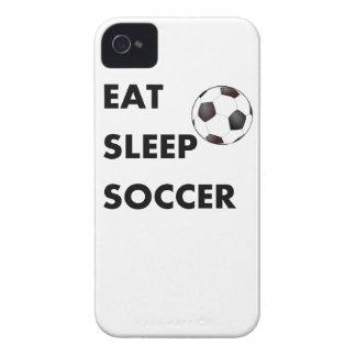 Coma el fútbol del sueño Case-Mate iPhone 4 cárcasas