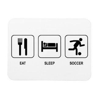 Coma el fútbol del sueño imanes rectangulares