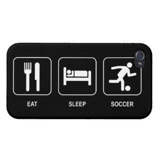 Coma el fútbol del sueño iPhone 4/4S carcasa