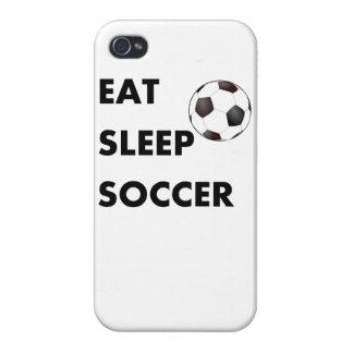 Coma el fútbol del sueño iPhone 4/4S carcasas