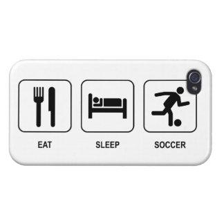 Coma el fútbol del sueño iPhone 4/4S funda
