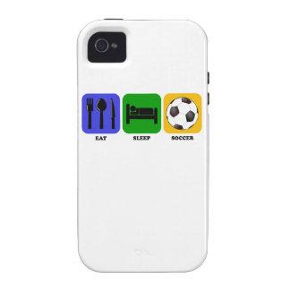 Coma el fútbol del sueño iPhone 4/4S fundas