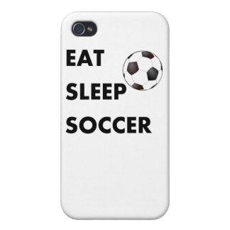 Coma el fútbol del sueño iPhone 4 cárcasa