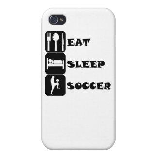Coma el fútbol del sueño iPhone 4 carcasa