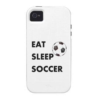 Coma el fútbol del sueño iPhone 4 carcasas