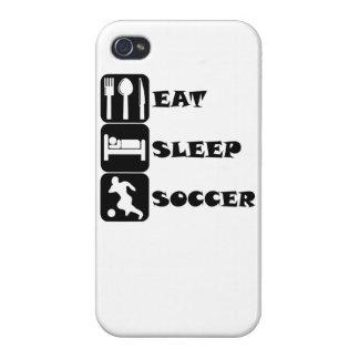 Coma el fútbol del sueño iPhone 4 cobertura