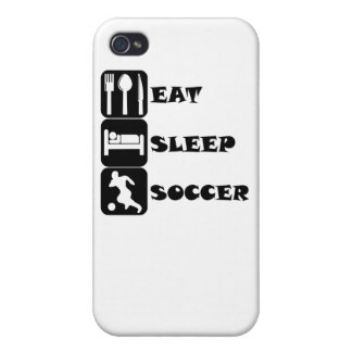 Coma el fútbol del sueño iPhone 4 protector