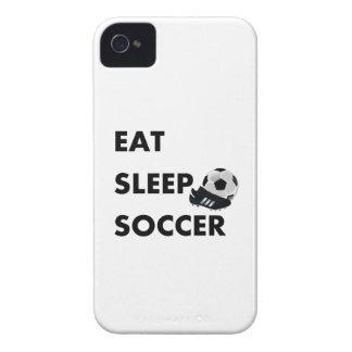 Coma el fútbol del sueño iPhone 4 protectores