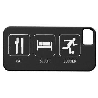 Coma el fútbol del sueño iPhone 5 carcasas
