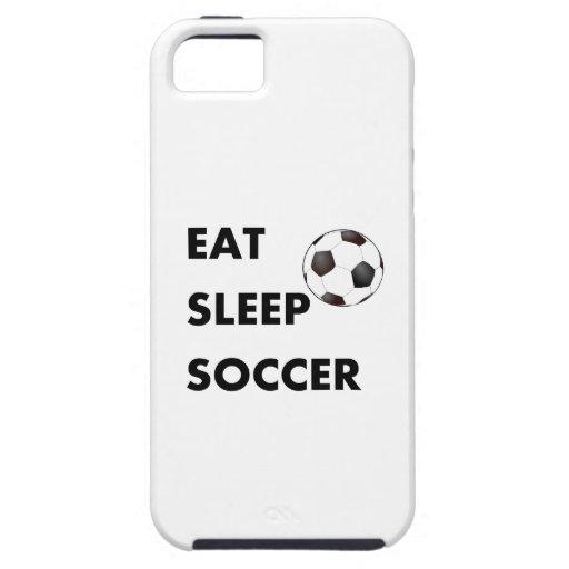 Coma el fútbol del sueño iPhone 5 fundas