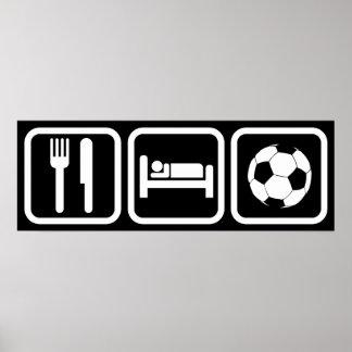 Coma el fútbol del sueño póster