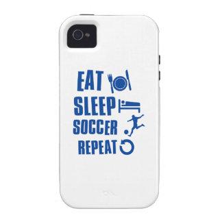 Coma el fútbol del sueño vibe iPhone 4 carcasas