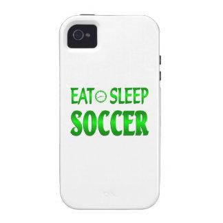 Coma el fútbol del sueño vibe iPhone 4 fundas