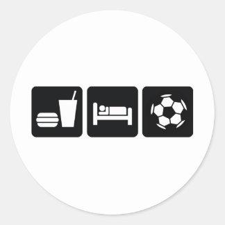 Coma el fútbol/el fútbol del sueño etiqueta
