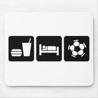 Coma el fútbol/el fútbol del sueño alfombrilla de ratones
