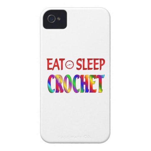 Coma el ganchillo del sueño iPhone 4 fundas