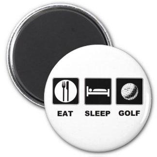 Coma el golf del sueño imán redondo 5 cm
