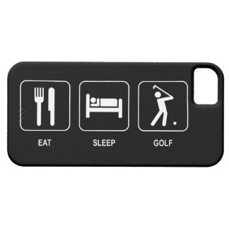 Coma el golf del sueño iPhone 5 carcasas