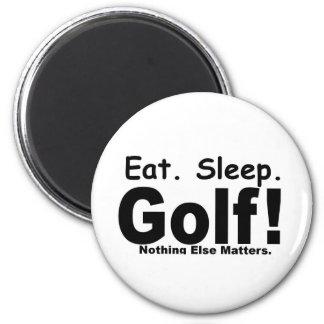 Coma el golf del sueño - nada las materias otras imán redondo 5 cm