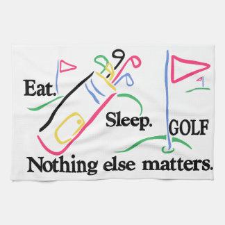 Coma el golf del sueño toallas