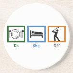 Coma el golf del sueño posavaso para bebida