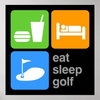 Coma el golf del sueño póster