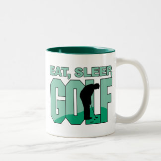Coma el golf del sueño taza de café