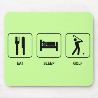 Coma el golf Mousepad del sueño