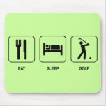 Coma el golf Mousepad del sueño Tapete De Ratones
