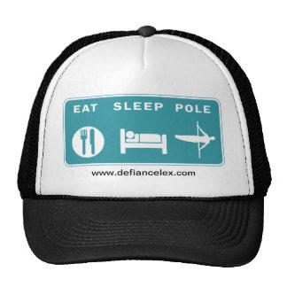 Coma el gorra del camionero de poste del sueño va