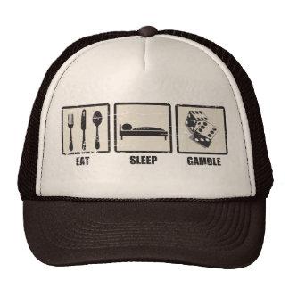 Coma el gorra del camionero del juego del sueño