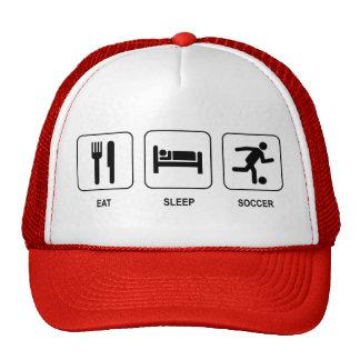 Coma el gorra del fútbol del sueño