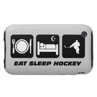 coma el hockey del sueño tough iPhone 3 fundas