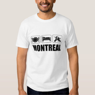 Coma el hockey Montreal del sueño Playeras
