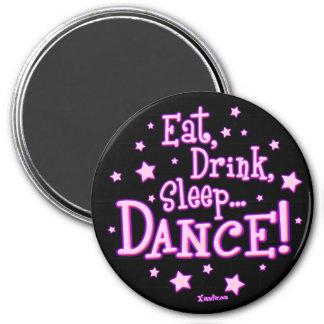 Coma el imán de la danza del sueño de la bebida