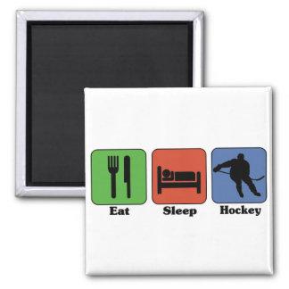 Coma el imán del hockey del sueño
