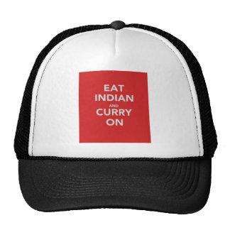 Coma el indio y el curry encendido gorro de camionero