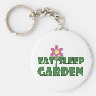 Coma el jardín del sueño llavero redondo tipo pin